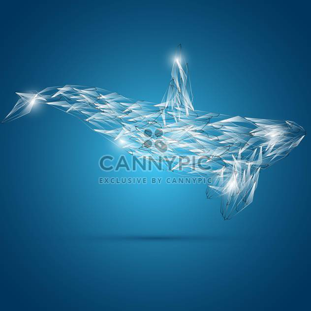 abstract shark vector illustration - Free vector #132588