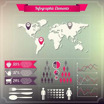 set of infographics elements design - Free vector #132638