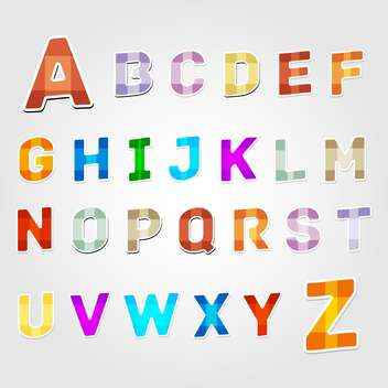 education alphabet vector letters set - vector gratuit #132708