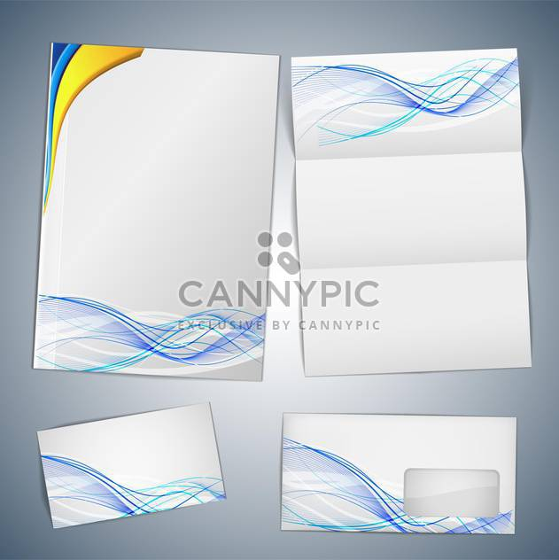 business cards and envelope template - Free vector #132748
