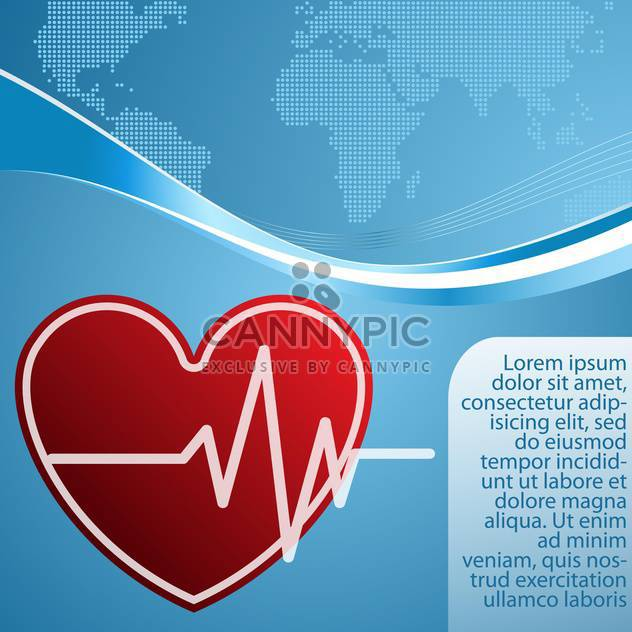 heart with cardiogram vector background - Free vector #132758