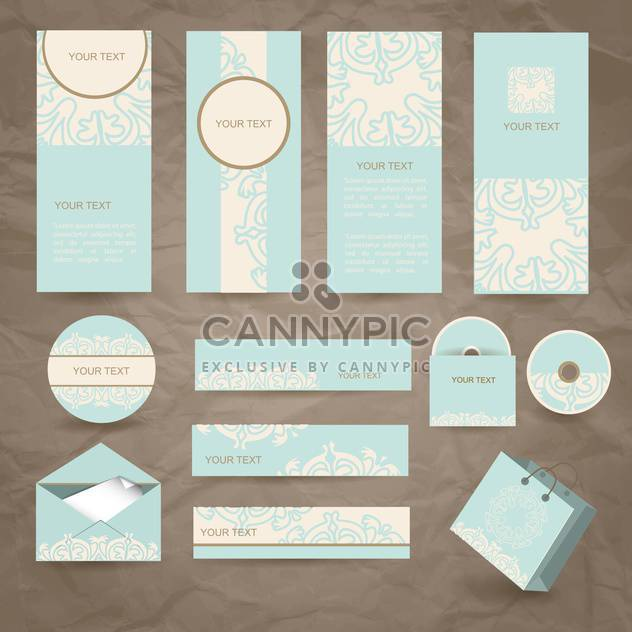vintage cards, envelope and packages - Free vector #132768