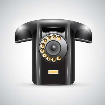 old black phone vector illustration - vector gratuit #132778
