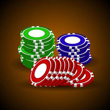 vector casino chips stacks - vector gratuit #132788