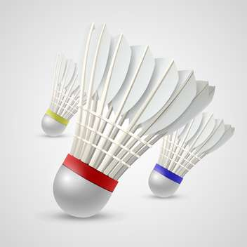 badminton game shuttlecocks vector illustration - vector gratuit #132808
