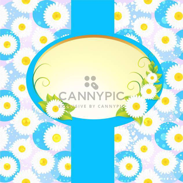 floral frame on flowers background - Free vector #132818