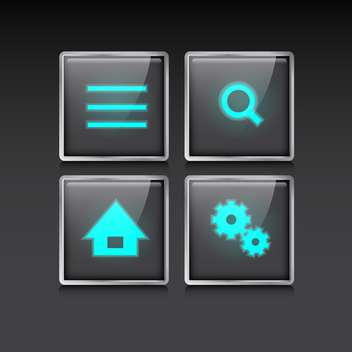 web site vector icons set - vector #132888 gratis