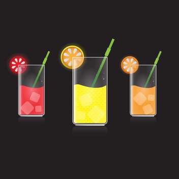lemon, grapefruit and orange juice - vector gratuit #132908