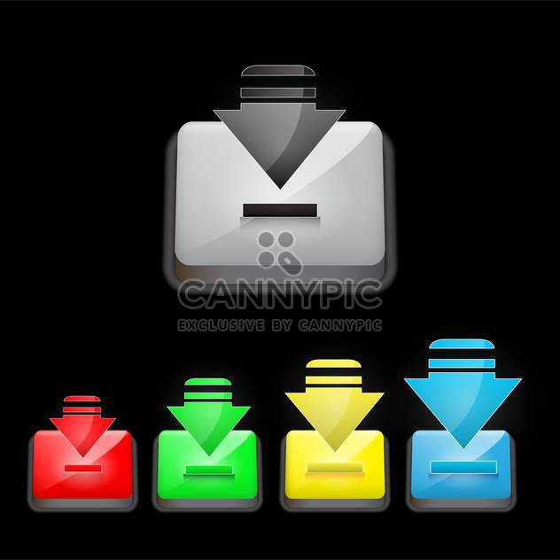 download button vector illustration - Free vector #132928
