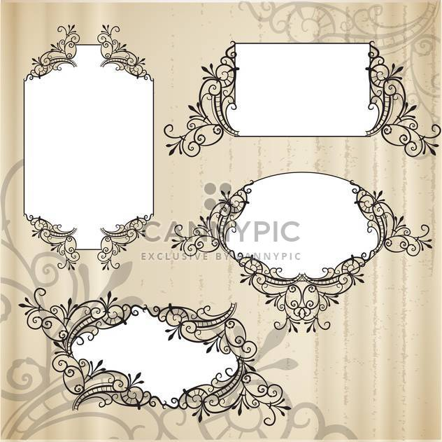 Vector vintage ornate frames set - Free vector #133028