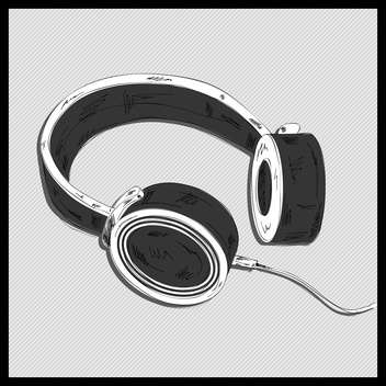 vector illustration of stereo headphones - vector gratuit #133038