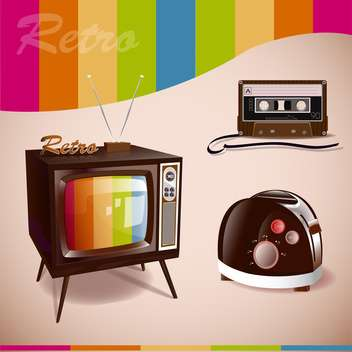 retro media vector illustration - vector gratuit #133078