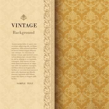 vintage background with damask ornaments - vector #133158 gratis