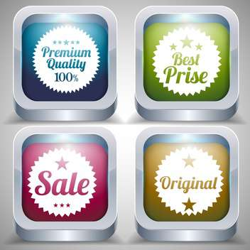 set of premium quality sale labels - vector gratuit #133168