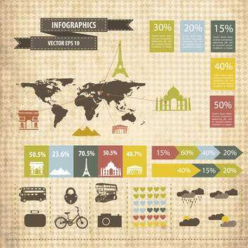 business infographic elements set - Free vector #133188