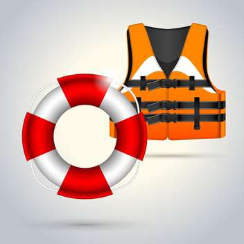 life vest with lifebuoy illustration - бесплатный vector #133208