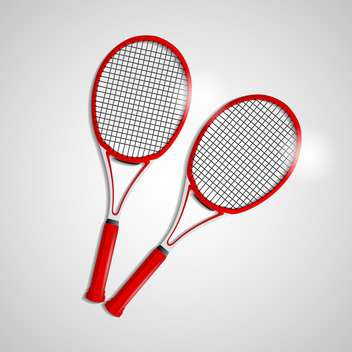 red tennis rackets illustration - vector gratuit #133218