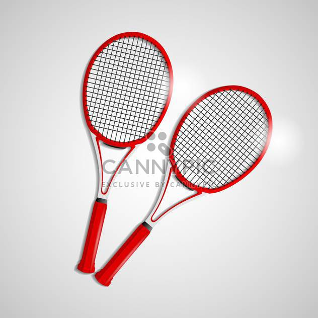 red tennis rackets illustration - Free vector #133218