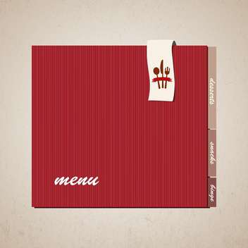 restaurant menu design background - Free vector #133228