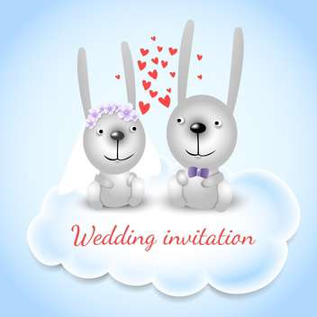Wedding invitation card background - vector gratuit #133278