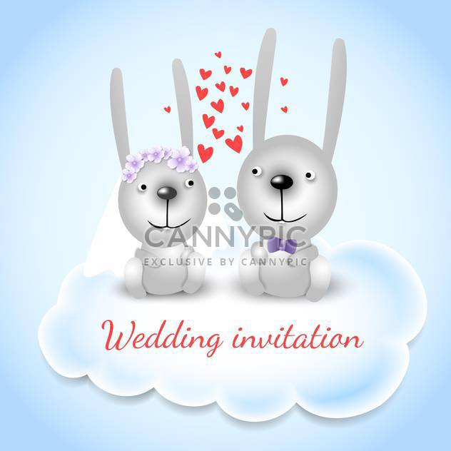 Wedding invitation card background - Free vector #133278