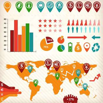 business infographic elements set - Free vector #133288