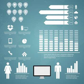 business retro infographics set - vector gratuit #133358