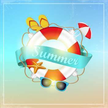 summer vector vacation background - vector gratuit #133388