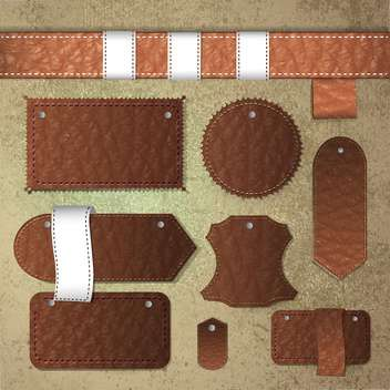 leather labels collection set - Free vector #133458