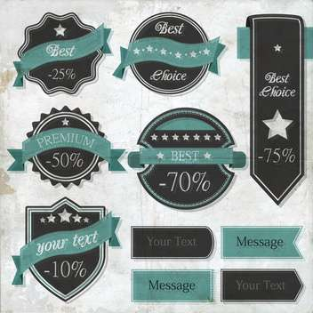 vector set of retro labels - vector gratuit #133498