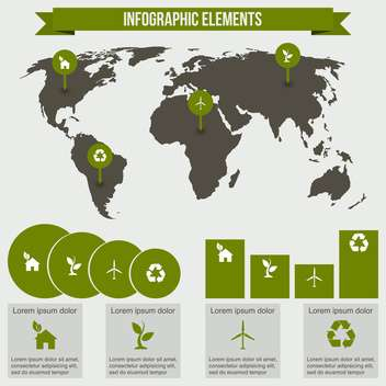 ecology infographics collection with charts - vector gratuit #133538