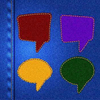 set of vector speech bubbles - vector gratuit #133588