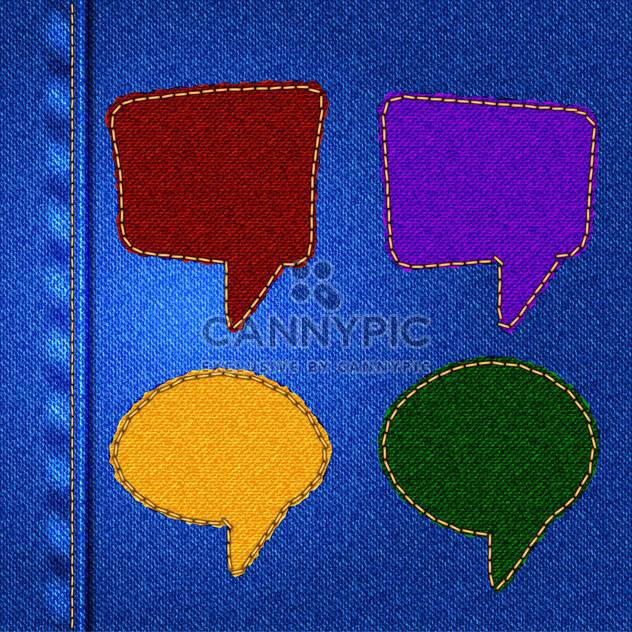 set of vector speech bubbles - Free vector #133588
