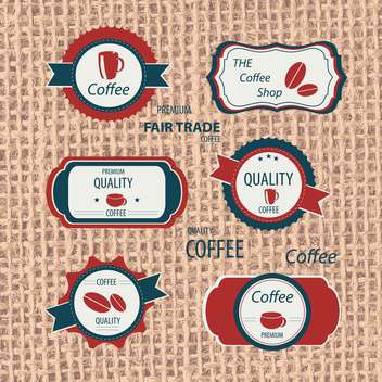 restaurant and cafe labels set - vector gratuit #133618