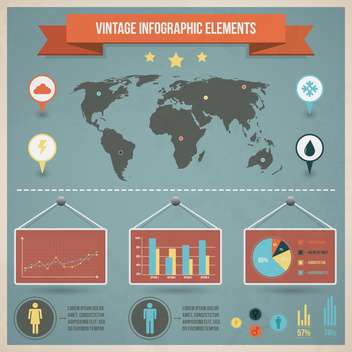 set elements of business infographics - Free vector #133678