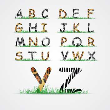 animal font alphabet letters - vector gratuit #133708