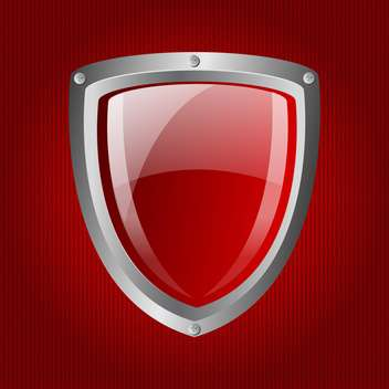 vector red metallic shield background - vector gratuit #133718
