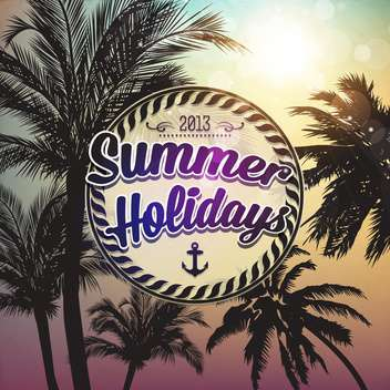 summer holidays vector background - vector gratuit #133748