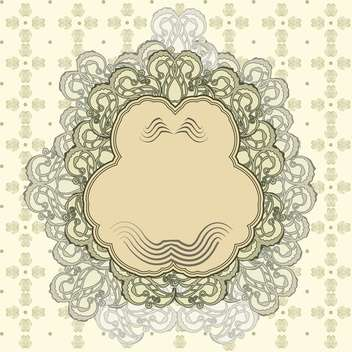 vector set of vintage frame background - Kostenloses vector #133758