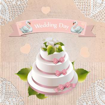 wedding day holiday cake background - бесплатный vector #133808