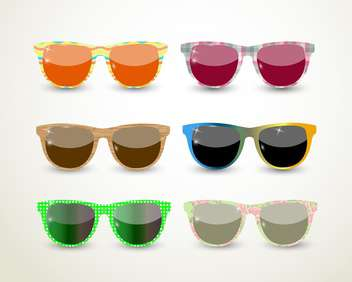 set of multicolored glasses background - Free vector #133818