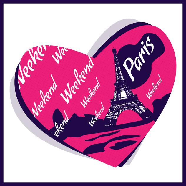 love in paris city background - vector #133878 gratis