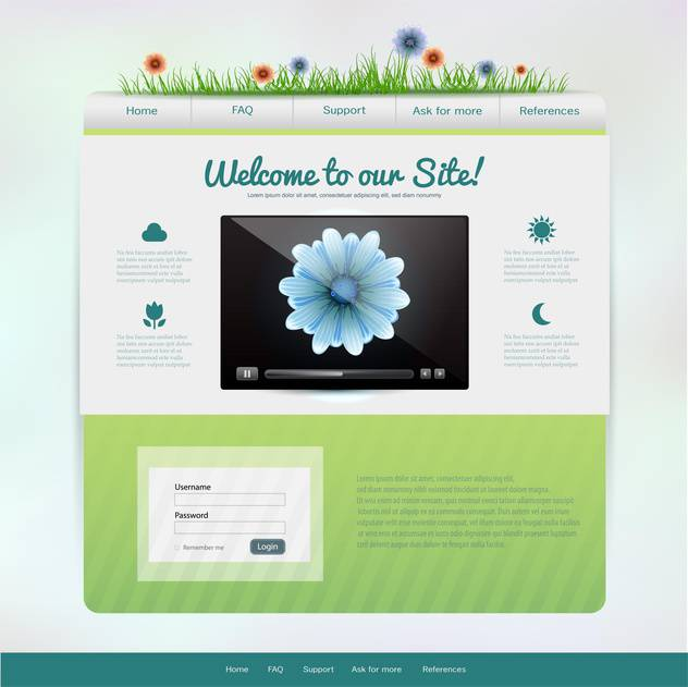 template of abstract website background - vector #133918 gratis