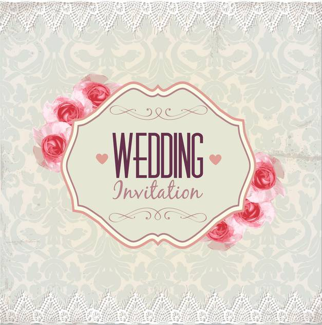 wedding invitation card background - vector gratuit #133928
