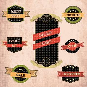 collection of high quality labels - vector #133948 gratis