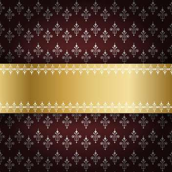 vintage holiday royal frame - vector #133978 gratis