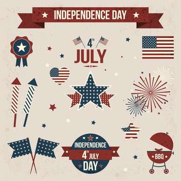 vector independence day badges - Kostenloses vector #134028
