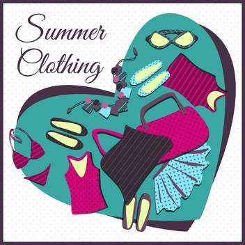 summer shopping clothes background - Free vector #134088