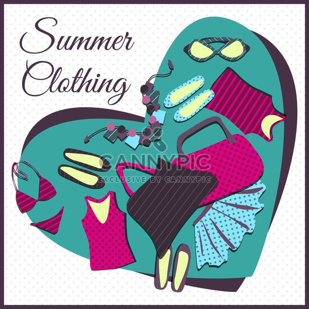 Sommer shopping Kleidung background - Kostenloses vector #134088
