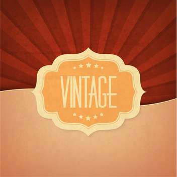 vintage design element background - vector #134118 gratis